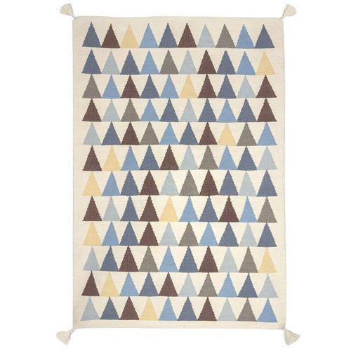 tapis chambre bb 100 laine motifs triangles httpwwwhomelisty - Tapis Chambre Bebe Bleu