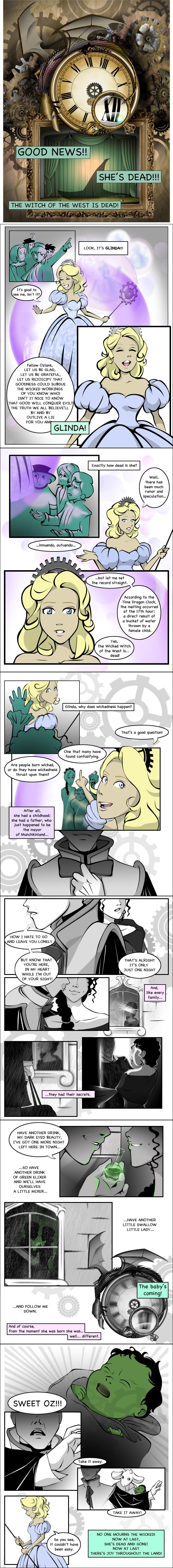 Wicked: A Graphic Novel, Part 1. Of course I sang it all as I was reading it too