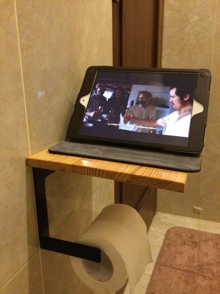 DIY Shelf w/ toilet paper holder Created and Designed by Ardiman Ganie