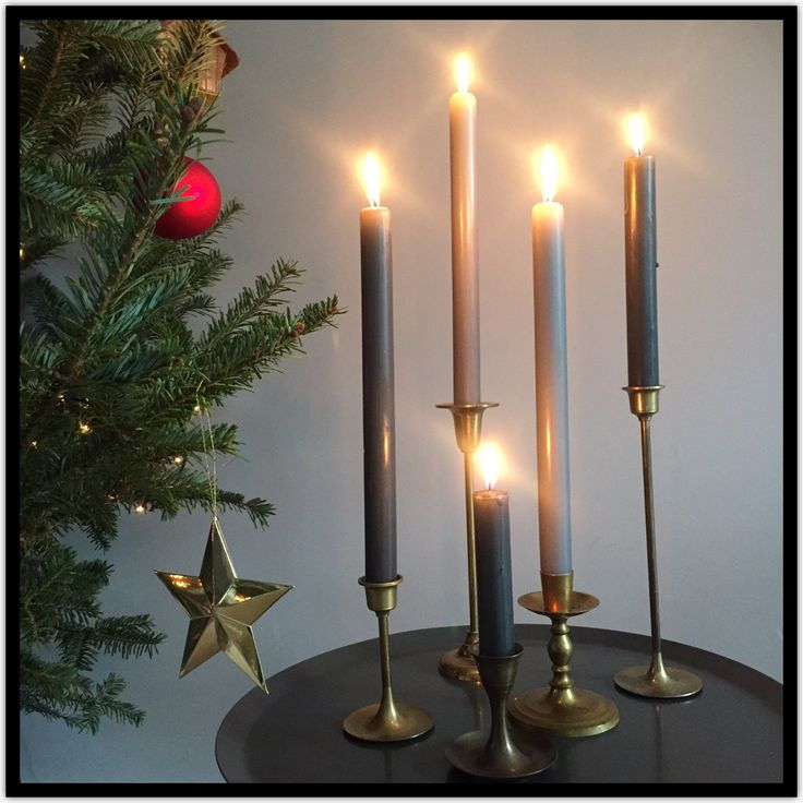 Holidays are coming! Create a warm atmosphere with a set of brass vintage candlesticks! Also very decorative on your diner table. - by ChrisVintageStyle