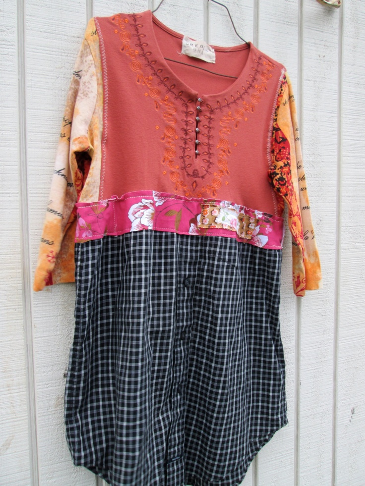 small - large - Upcycled clothing / Funky Dress / Tunic ...