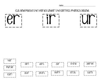 1000+ images about er ir ur on Pinterest | Word Sorts, Phonics and ...