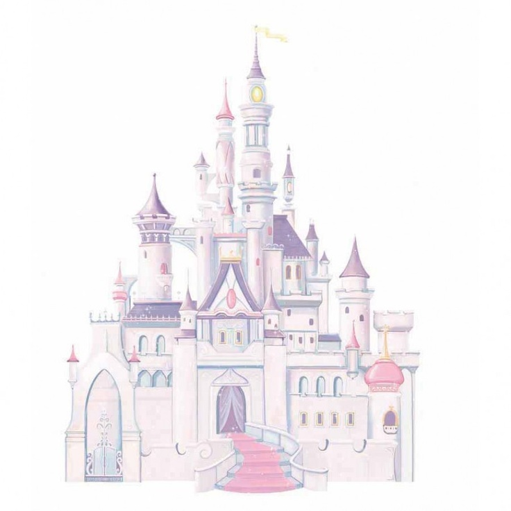 Room Mates Licensed Designs Disney Princess Castle Peel and Stick Giant Wall Decal - RMK1546GM