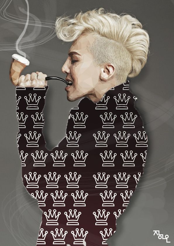 art ai illust illustrator polygon polygonart lowpoly artwork instafamous GD gdragon fashion idol rapper