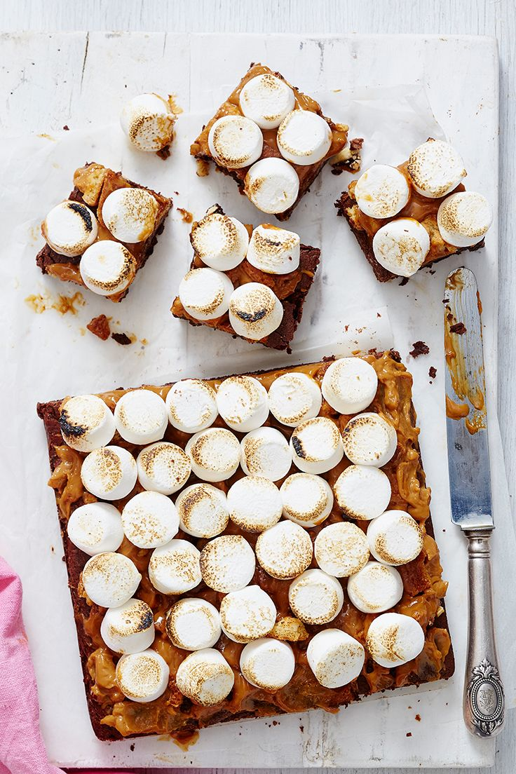 Gooey, decadent and completely addictive, you just can't go past these easy s'mores brownies.