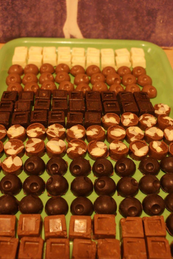 A l'approche de Noel, j'ai eu envie de m'essayer à la réalisation de mes propres chocolats… Le problème c'est que je n'ai fait du coup que des variétés que j&rsq…