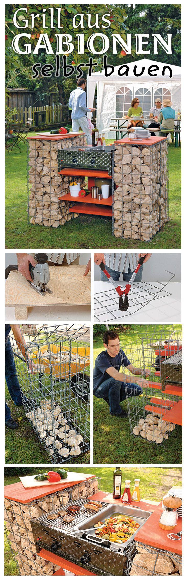 Aus Gabionen kann man nicht nur Deko für den Garten bauen, sondern auch einen Grill. Wir zeigen, wie man den Gabionen-Grill selbst baut.