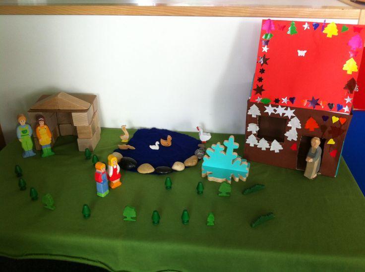 """Verteltafel #sprookje """"Hans en Grietje"""" gemaakt door Laura Jansen."""