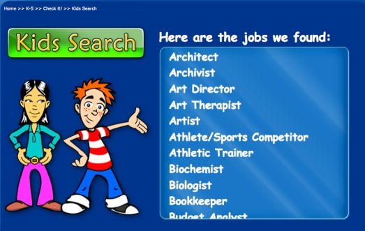 Elementary/middle school career lessons using videos, search engine, and gamification.
