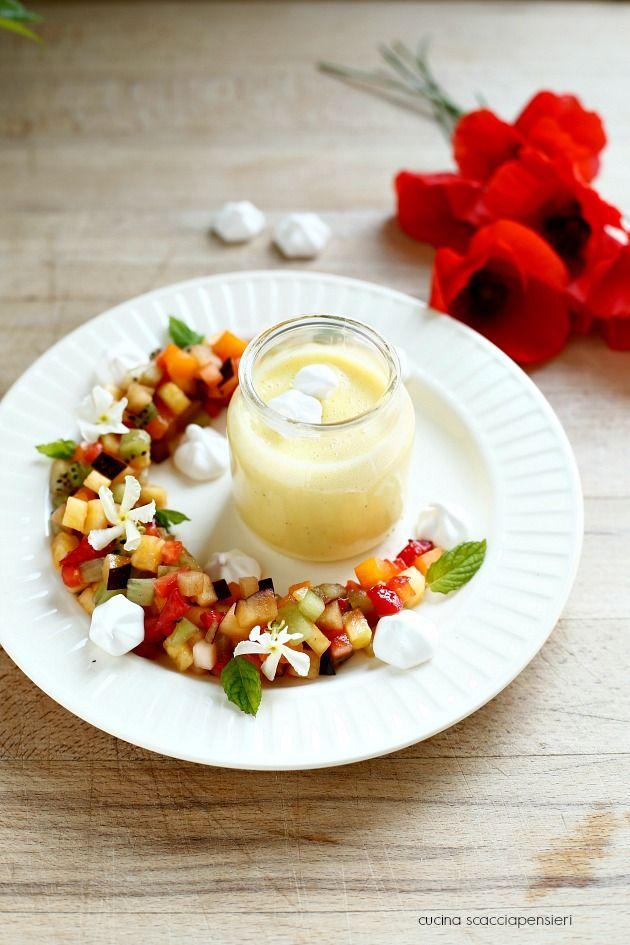 Cucina Scacciapensieri: Tartare di frutta con crema inglese al gelsomino