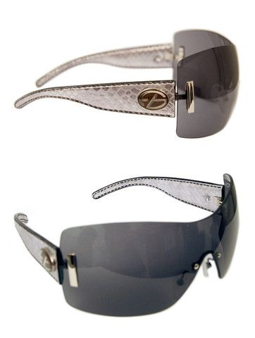 http://mepppz.com/collections/woman-sunglasses/products/ladies-designer-fashion-sunglasses-by-francesco-biasia-with-silver-snakeskin-rims-dark-tinted-lenses#.VCkMhvldUuQ Ladies Designer Fashion Sunglasses by Francesco Biasia with Silver Snakeskin Rims & Dark Tinted Lenses  £135.00 Ladies designer fashion sunglasses from top designer brand, Francesco Biasia. Featuring silver snakeskin effect rims with beautiful dark tinted lenses and Francesco Biasia designer logo to both sides.