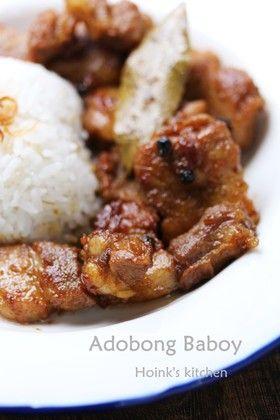 フィリピンの味★豚バラ肉のアドボ★
