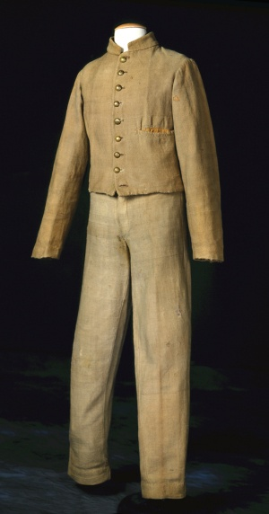 Confederate Sack Coat Uniform 1862, American, Made of cotton and wool