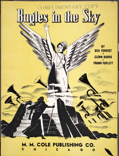 Bugles in the sky, 1940, [front cover] :: Bugles in the sky, 1940 :: Gospel Music History Archive. http://digitallibrary.usc.edu/cdm/ref/collection/p15799coll9/id/1532