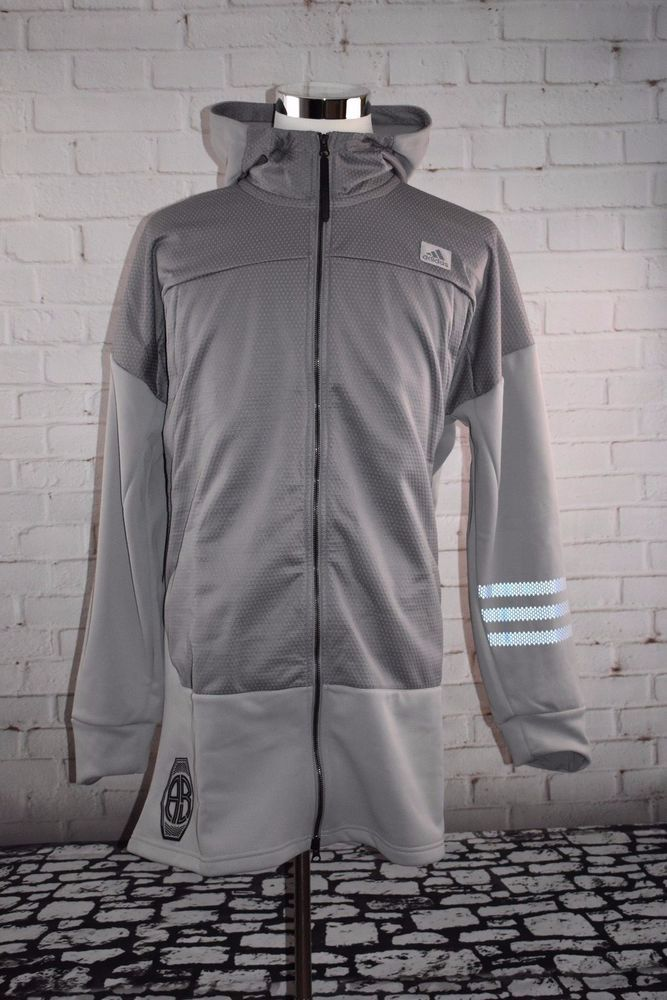 NEW ADIDAS MENS BASKETBALL LEAGUE CRUSHER ZIP HOODIE JACKET 2XL - MSRP - $110 #adidas #Hoodie