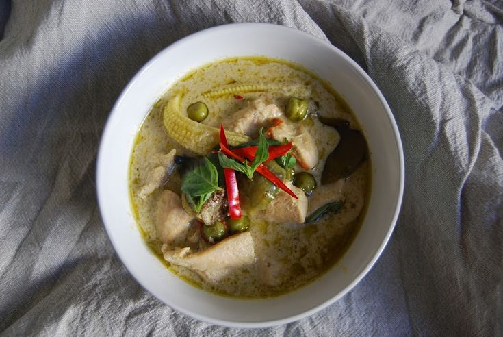 Thai grønn kylling karri