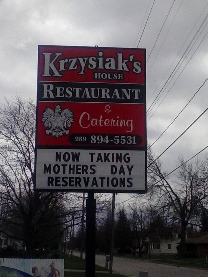 4. Krzysiak's House Restaurant, Bay City