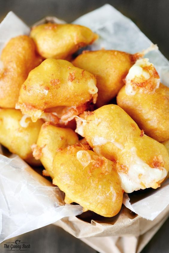 Fried Cheese Curds; So easy to make. These deep fried white cheddar cheese curds are the BEST appetizer and the perfect comfort food!