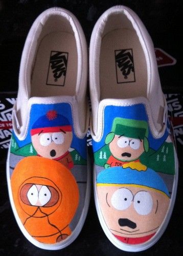 South Park Shoes South Park Slip-on Painted Canvas Shoes,Slip-on Painted Canvas Shoes