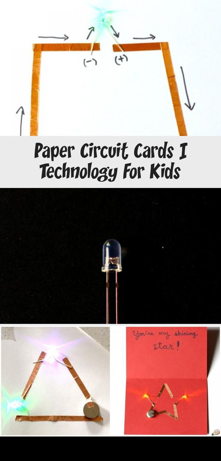 paper circuit cards  technology for kids  technology in
