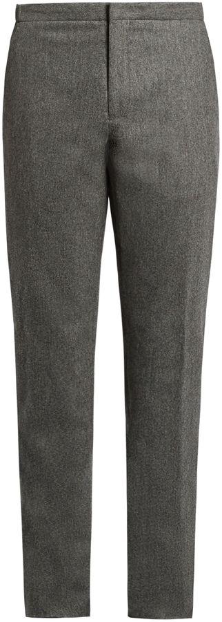 INCOTEX Slim-leg wool trousers