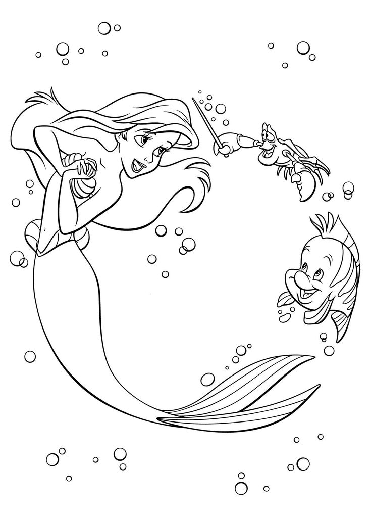 disney coloring book pdf | Mermaid coloring pages, Ariel ...