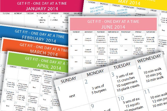 Daily Beginner Workout Plan - a step by step plan for each day of the month