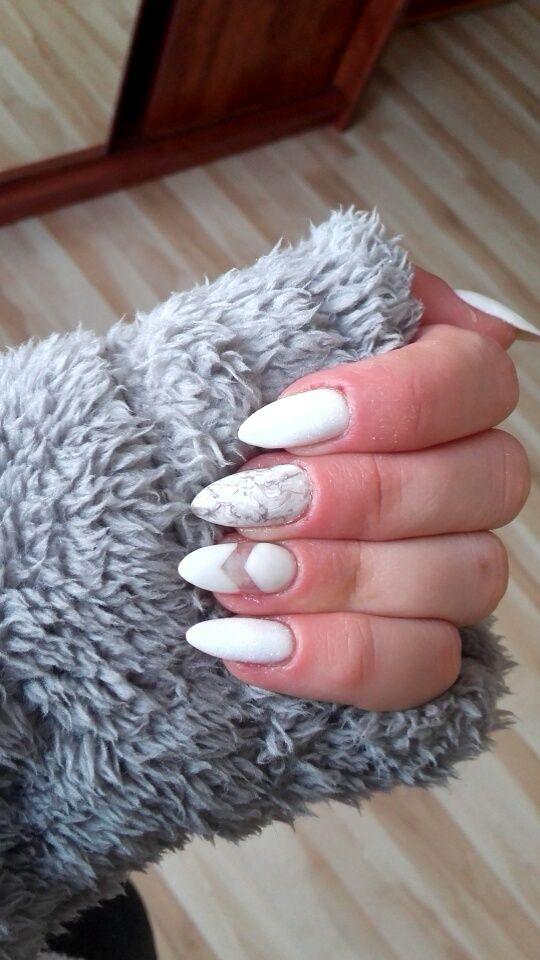 Semilac marble&negative space #semilac#marblenails#negativespace#negativespacenails#longnails#marmurek