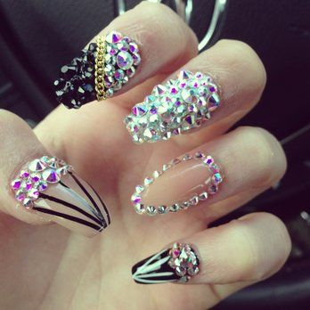 Best 25 diamond nail designs ideas on pinterest black glitter diamond nail designs pinterest easy nail designs diamond nail design best diamond nail design 2016 2017 prinsesfo Image collections