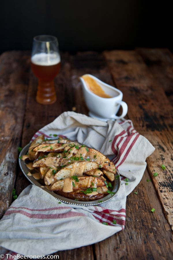 Football fries: Chipotle Beer Cheese Oven Fries   When I was 17 I decided to sell vacuums door-to-door. It was a great plan, I'd met a guy who had made a f