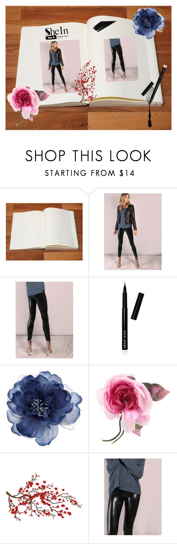 """""""Black Crop Coated leggings"""" by lma91604 ❤ liked on Polyvore featuring Bobbi Brown Cosmetics, Accessorize, Gucci and Brewster Home Fashions"""