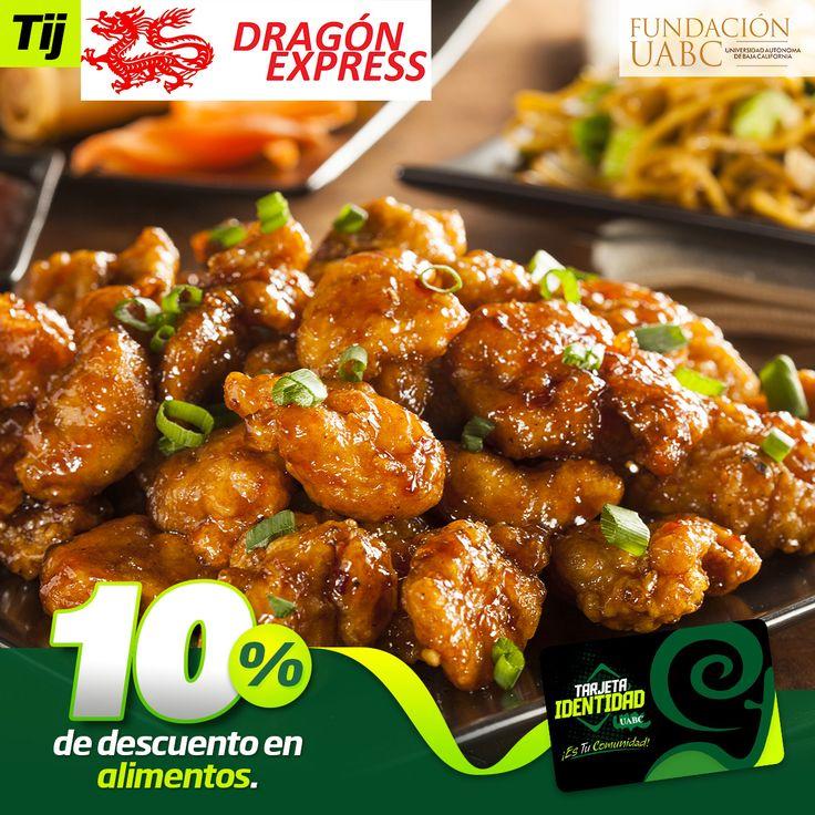 Dragón Express te ofrece 10% de descuento en tu consumo, recuerda usar tu Tarjeta Identidad.