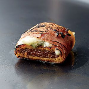 Fig Newton cookies w/ blue cheese wrapped w/ prosciutto then lightly torched!!!!! Im so doing this for the holidays!!!!! 9 Fun Things to Do with a Kitchen Torch | The Newton | CookingLight.com