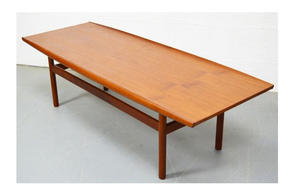 Mid Century Large Teak Danish Coffee Table | Vinterior London  #vintage #teak #dining