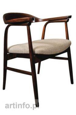 Marian Sigmund (przypisywany) Krzesło SIG 2B 591, Polska, Spółdzielnia Ład, lata 60-te XX w. drewno gięte, tkanina