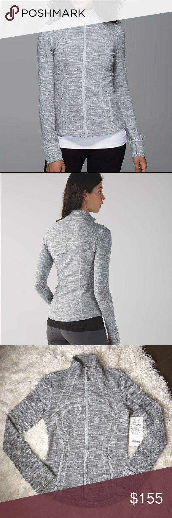 "Lulu Wee Are From Space Silver Spoon Define 6 Lululemon ""Wee Are From Space"" Define jacket in the color Silver Spoon. Size 6. Like new condition. I literally popped the tag and wore this once to the store. Smoke free home. lululemon athletica Jackets & Coats"