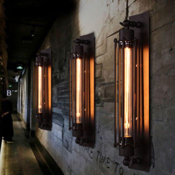 Modern Vintage Industrial Loft Metal Rustic Long Wall Sconce Wall Lamp Light Bar in Home, Furniture & DIY, Lighting, Wall Lights | eBay