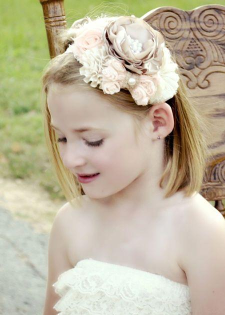 vintage tea party headband - baby girls vintage hair accessories hair bow #infant  #children #teen# toddler #newborn #handmade # photo prop # photography
