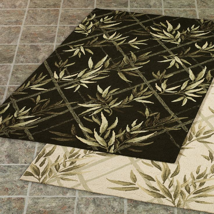 Clearance Indoor Outdoor Rug With Floral Patterns