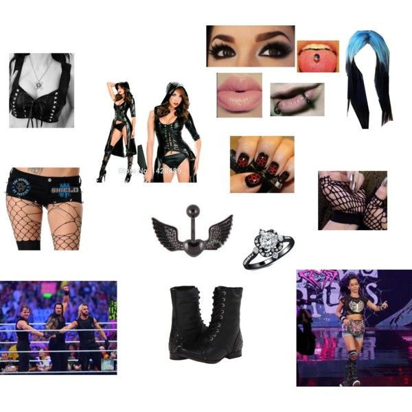Winning the Divas Championship at Wrestlemania 30 by sleepingxwithxrebels on Polyvore featuring Naughty Monkey