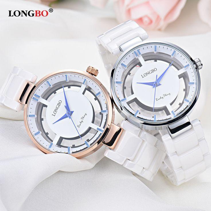 US $53.00 - fashion ladies Skeleton ceramics white clocks casual womens watches quartz lady waterproof Rose gold silver bayan saatleri 80106