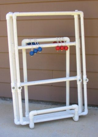 Boco ball yard game DIY with PVC pipe - WOW  FREE PVC PLANS AND IDEAS