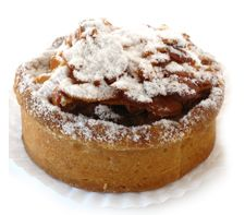 Nougat Pomme tart - Roasted apples, topped with caramelised almonds in a case of sweet dough. www.cassis.co.za