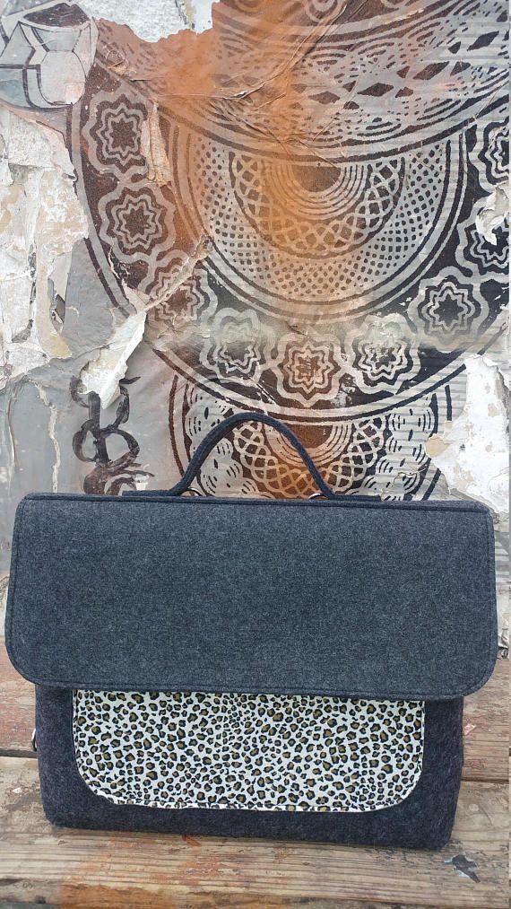 MESSENGER BAG, Messenger laptop bag, Messenger backpack, Messenger Felt bag, Messenger Shoulder bag, Messenger crossbody bag, Macbook pro 15, LAPTOP BAG, Laptop backpack, Laptop bag women, Computer bag women, Womens laptop bag, Satchel backpack, Vegan backpack, Felt Leopard bag  #fashion #fashionblogger #bags #boho #bohostyle #tote #totebag #style #styleblogger #fashionista #vegan #messengerbag