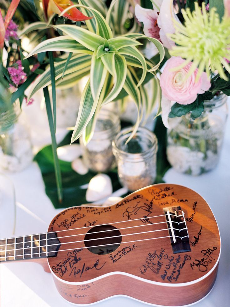 Cute idea if we can think of something appropriate (instead of a ukelele).