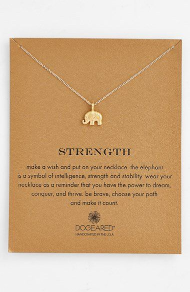 Dogeared 'Reminder - Strength' Boxed Pendant Necklace | Nordstrom
