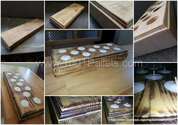 Kaarsen Plateau 600x424 Candles tray made of recycled pallet wood in pallet home decor with Tray pallet Candle
