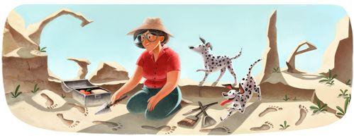 英國考古學家、人類學家 British archaeologist, anthropologist Mary Leakeys 100th birthday 2013-02-06 (499×193)