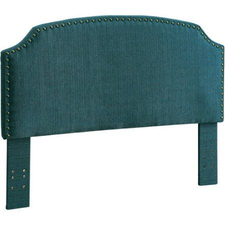 Furniture of America Nalyssa King Padded Fabric Headboard, Multiple Colors, Blue