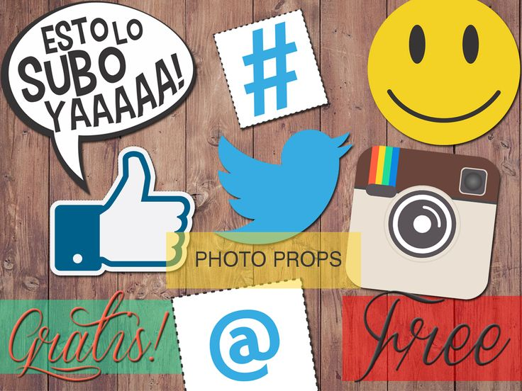 Free Printables! Photo props for photo booth - Social media printables. Instant download. Photo props imprimibles gratis para descargar. Social media. #free #printables